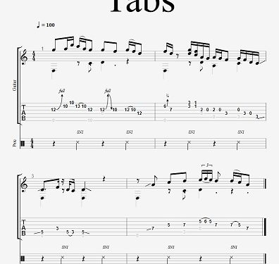 SHEET MUSIC AND TABS